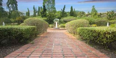 Formal Garden Brick Path